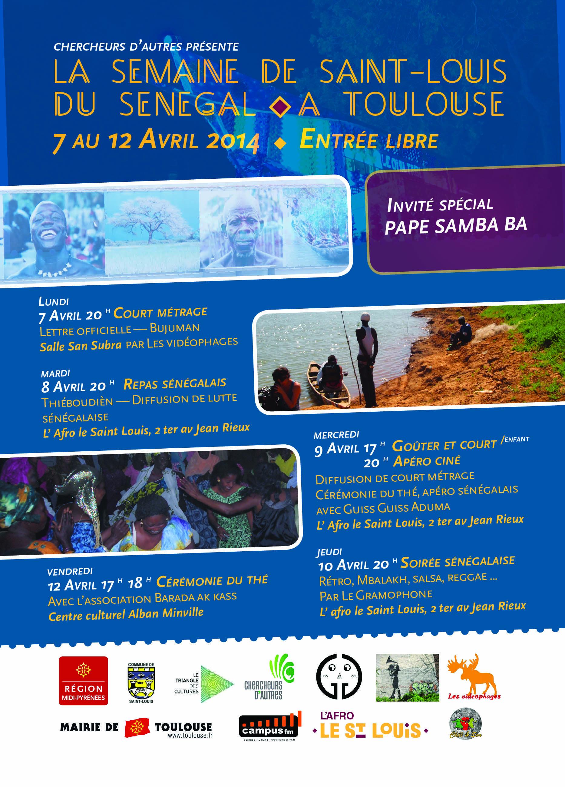 du 7 au 12 avril : Semaine de Saint Louis du Sénégal à Toulouse