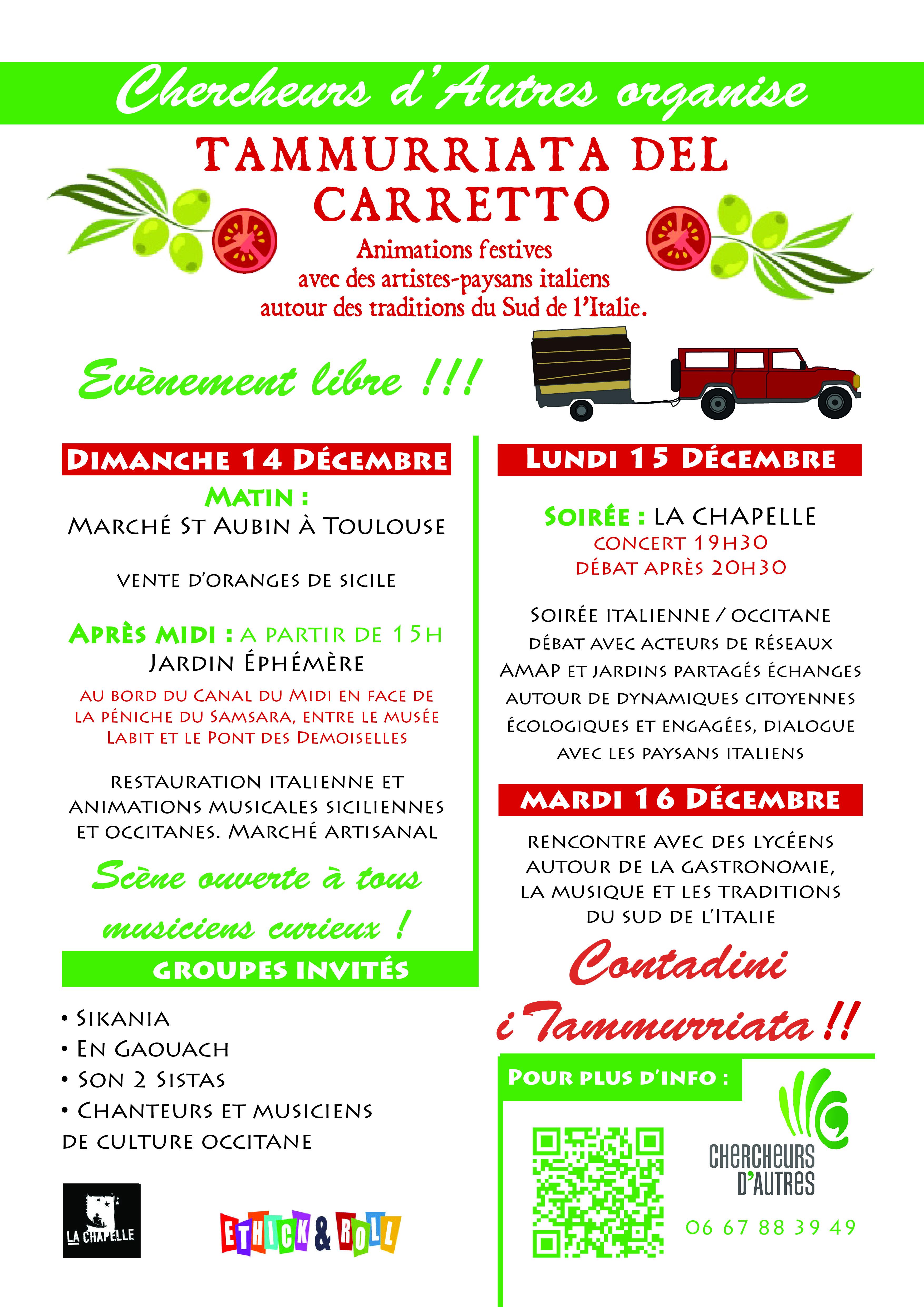 Rencontre Tummurriate del Carretto 14,15,16 décembre 2014 à Toulouse