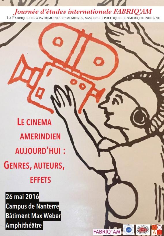 Cinéma collaboratif sur le Haut-Maroni en Guyane – Journée d'études – Cinéma amérindien – 26 mai- Université Paris x – communication scientifique