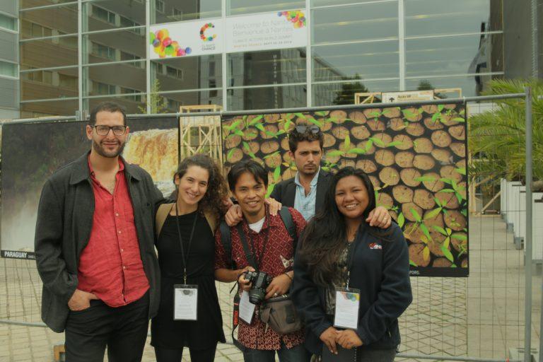 Les jeunes Wayanas représentés par Sylvana Opoya au Climat Chance Septembre 2016 à Nantes