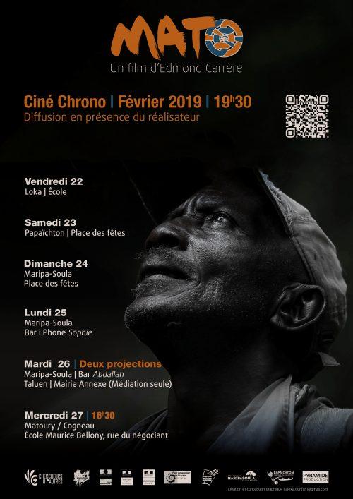 Ciné Chrono 2019 : Diffusion du film Mato avec présence du réalisateur